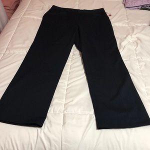Rafaella Navy Curvy Straight leg pants